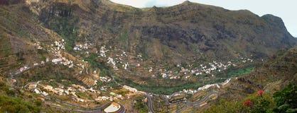 Paisaje en la isla de Gomera del La - islas canarias Fotografía de archivo libre de regalías