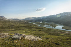 Paisaje en Laponia, Suecia Imagen de archivo libre de regalías
