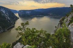 Paisaje en las gargantas de Danubio imagen de archivo libre de regalías
