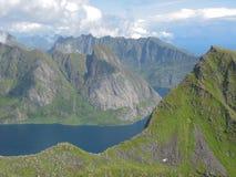 Paisaje en las islas de Lofoten imágenes de archivo libres de regalías