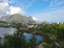 Paisaje en las islas de Lofoten imagenes de archivo