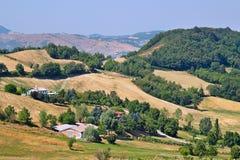Paisaje en las montañas de Apennines Foto de archivo libre de regalías