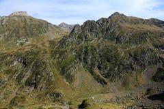 Paisaje en las montañas de Pyrenees Fotografía de archivo libre de regalías