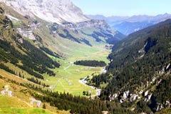 Paisaje en las montañas suizas, Suiza Imagen de archivo