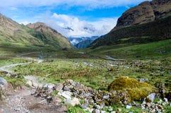 Paisaje en los Andes perú Fotos de archivo