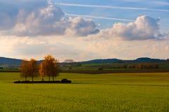 Paisaje en los campos de Flandes, Bélgica Imagen de archivo