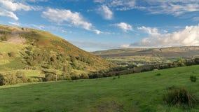 Paisaje en los valles de Yorkshire, Reino Unido Fotos de archivo