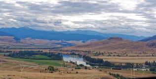 Paisaje en Montana occidental imagenes de archivo