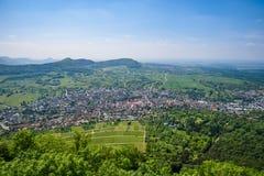 Paisaje en Neuffen, alba suabia, Alemania fotos de archivo
