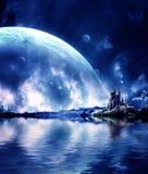 Paisaje en planeta de la fantasía