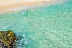 Paisaje en Playa del Carmen, Yucatán, México del mar del Caribe Imagen de archivo