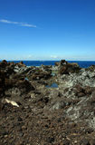 Paisaje en Puerto Santiago Foto de archivo libre de regalías