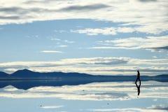 Paisaje en Salar de Uyuni, Bolivia Fotografía de archivo libre de regalías