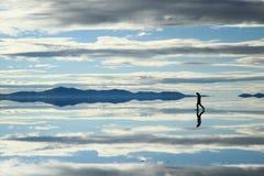 Paisaje en Salar de Uyuni, Bolivia Imagen de archivo