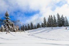 Paisaje en Suiza, Villars Fotos de archivo libres de regalías