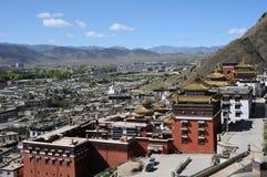 Paisaje en Tíbet imagen de archivo libre de regalías