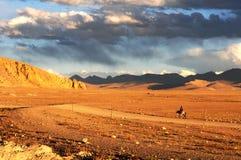 Paisaje en Tíbet fotos de archivo
