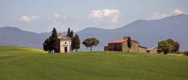 Paisaje en Toscana Imágenes de archivo libres de regalías