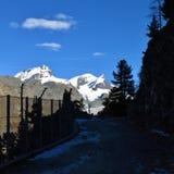 Paisaje en Zermatt Imagen de archivo libre de regalías