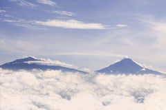 Paisaje escénico asombroso de la montaña en el monte Merapi, Indonesia Imágenes de archivo libres de regalías