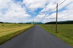 Paisaje escénico de Elkton, Virginia alrededor del nacional de Shenandoah Foto de archivo libre de regalías