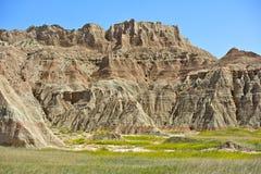 Paisaje escénico de los Badlands Imagen de archivo