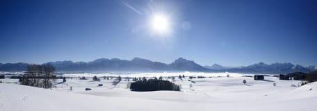 Paisaje escénico del panorama en Baviera Imagenes de archivo
