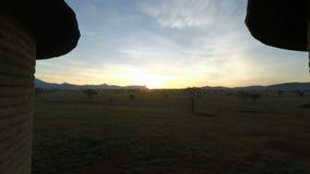 Paisaje escénico en Kenia en la salida del sol metrajes