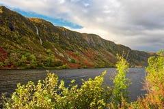 Paisaje escocés de las montañas, temor del lago foto de archivo