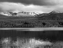 Paisaje escocés, montañas de Cairngorm Imagen de archivo