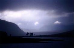 Paisaje Escocia de la niebla fotografía de archivo