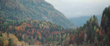 Paisaje esloveno asombroso del otoño Imagenes de archivo