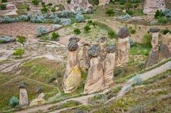 Paisaje espectacular en Cappadocia, Turquía Foto de archivo libre de regalías