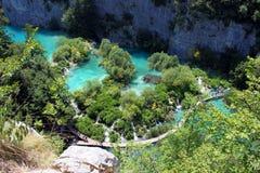 Paisaje espectacular en el parque nacional de Plitvice Foto de archivo