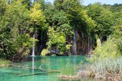 Paisaje espectacular en el parque nacional de Plitvice Imágenes de archivo libres de regalías