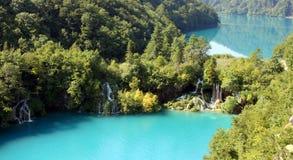 Paisaje espectacular en el parque nacional de Plitvice Fotografía de archivo libre de regalías