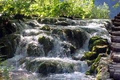 Paisaje espectacular en el parque nacional de Plitvice Fotografía de archivo