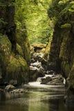 Paisaje etéreo imponente de la garganta echada a un lado profunda con las paredes de la roca imagen de archivo