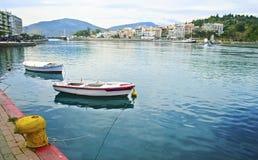 Paisaje Euboea Grecia - fenómeno loco del Chalcis del agua Imagen de archivo libre de regalías