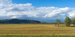Paisaje extenso de Khakassia Foto de archivo libre de regalías