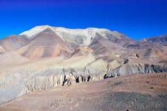 Paisaje fantástico cerca de Kangbeni, Nepal Fotografía de archivo