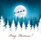 Paisaje fantástico del invierno en la Navidad Imagenes de archivo