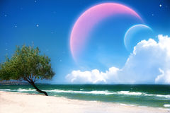 Paisaje fantástico del mar Imagen de archivo libre de regalías