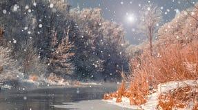Paisaje fascinador del invierno Fotos de archivo