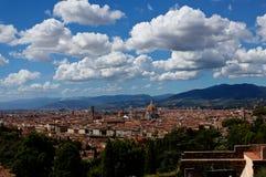 Paisaje Florencia, Firenze, Toscany, Italia del paisaje urbano imagenes de archivo
