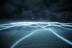 Paisaje generado Digital del código binario