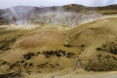 Paisaje geotérmico Imagen de archivo libre de regalías