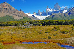 Paisaje glacial de la montaña en Patagonia Foto de archivo libre de regalías