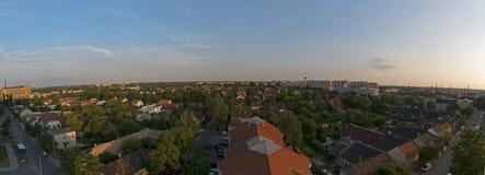 Paisaje granangular de la ciudad de la ciudad del panorama de Budapest Fotos de archivo libres de regalías