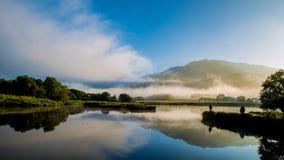 Paisaje grande de nueve lagos Imagen de archivo libre de regalías